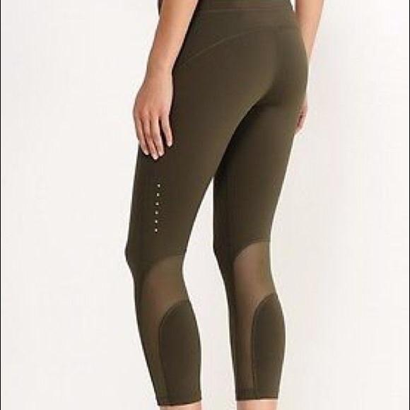 01a5b2c2424187 Olive Green Nike Mesh Leggings. M_5b70cbd02830953269f160a3